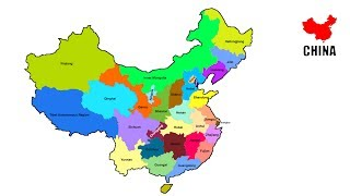How to draw map of China // China  Provinces map