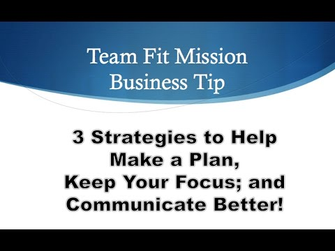 Coaching Business Tips 101: Strategy, Focus, Communicate
