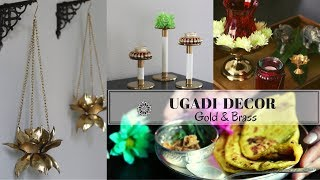 Indian Festival Decor | Ugadi 2019 - Gold & Brass Accents