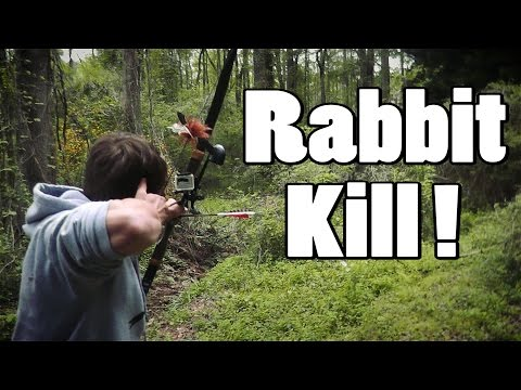 [GRAPHIC] Hunting Rabbit with Bows and Blowguns! How to Clean/Cook in the Woods