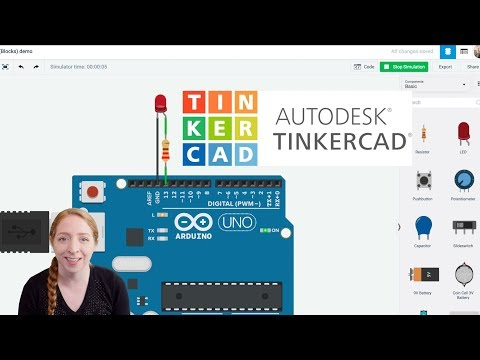 Blink an LED With Arduino in Tinkercad - YouTube
