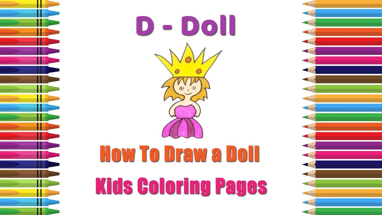 how to draw a doll coloring pages alphabets coloring pages