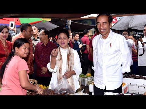 Presiden Jokowi Meninjau Pasar Sukawati, Gianyar, 14 Juni 2019