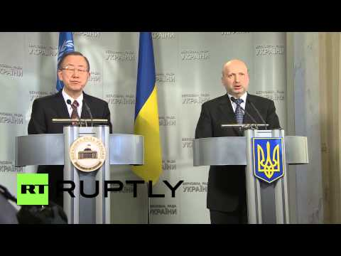 Ukraine: Ban Ki-moon meets Kiev's new leadership
