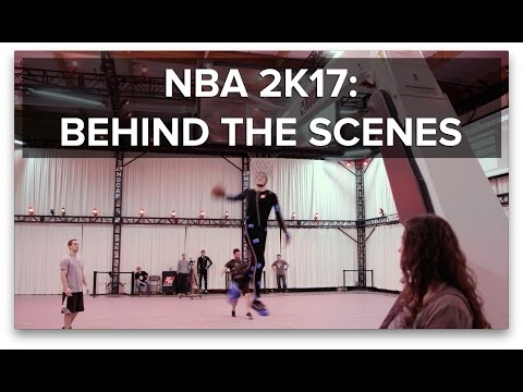 Behind the scenes at an NBA 2K17 Motion Capture session