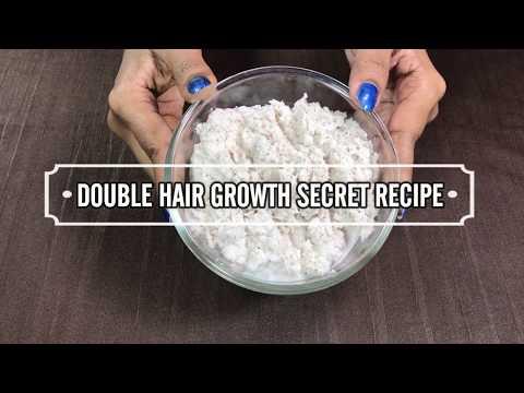 SECRET Recipe For DOUBLE Hair Growth   Magical Hair Growth Treatment