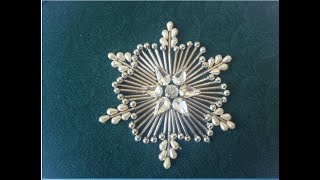 hand embroidery:An easy rose with beads and pearls