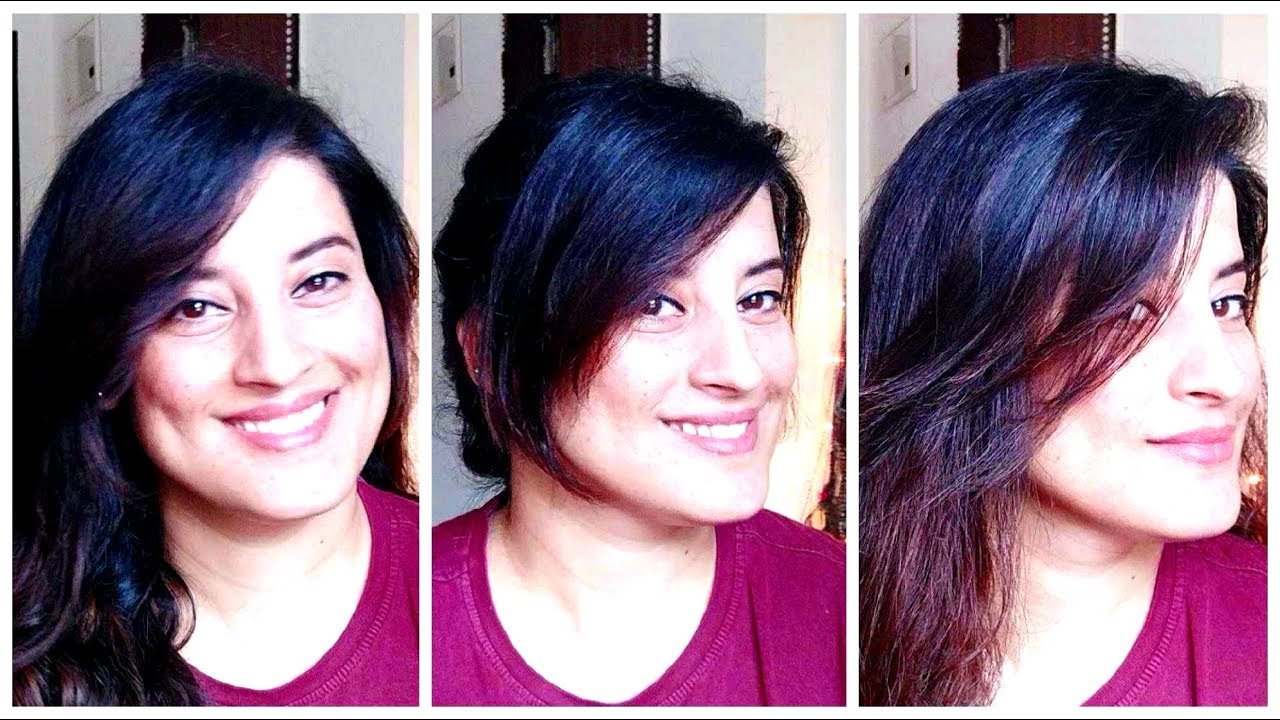 How to cut your own hair at home /side swept bangs  /flicks/fringes/indiaRachna Jinta