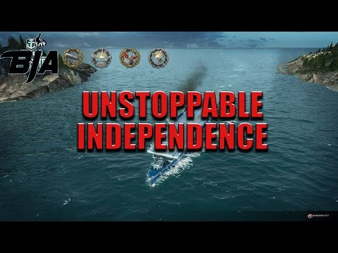 World of Warships- Unstoppable Independence (3,044 base EXP)