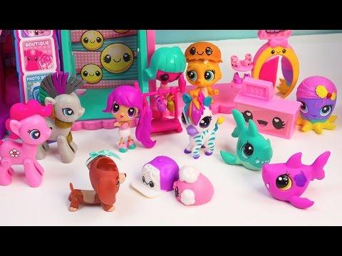 MLP Littlest Pet Shop Kawaii Crush Hyper Happy MALL PLAYSET My Little Pony LPS Bobbleheads Video