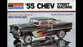 "Monogram 1955 Chevy Street Machine 1/24 Model Kit ""Apocalypse"" Complete"