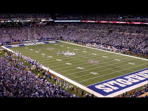 Indianapolis Colts 2009 AFC Champions!  Lucas Oil Stadium Roars! Critical 4th Q Defensive Stop!