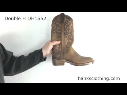 """Double H 12"""" Mens Gel ICE USA Made Work Western Boot Style DH1552"""