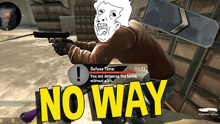 CS:GO SILVER FUNNY MOMENTS - THE DUMBEST NINJA DEFUSE EVER, BOOST TROLLING & MORE