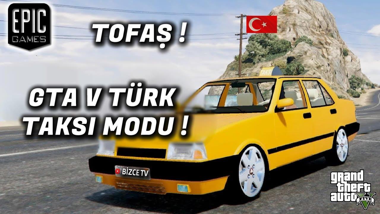 GTA 5 Türk Taksi Modu! Nasıl indirilir ? Nasıl kullanılır ? Tofaş Taksi modu ile oynadık.
