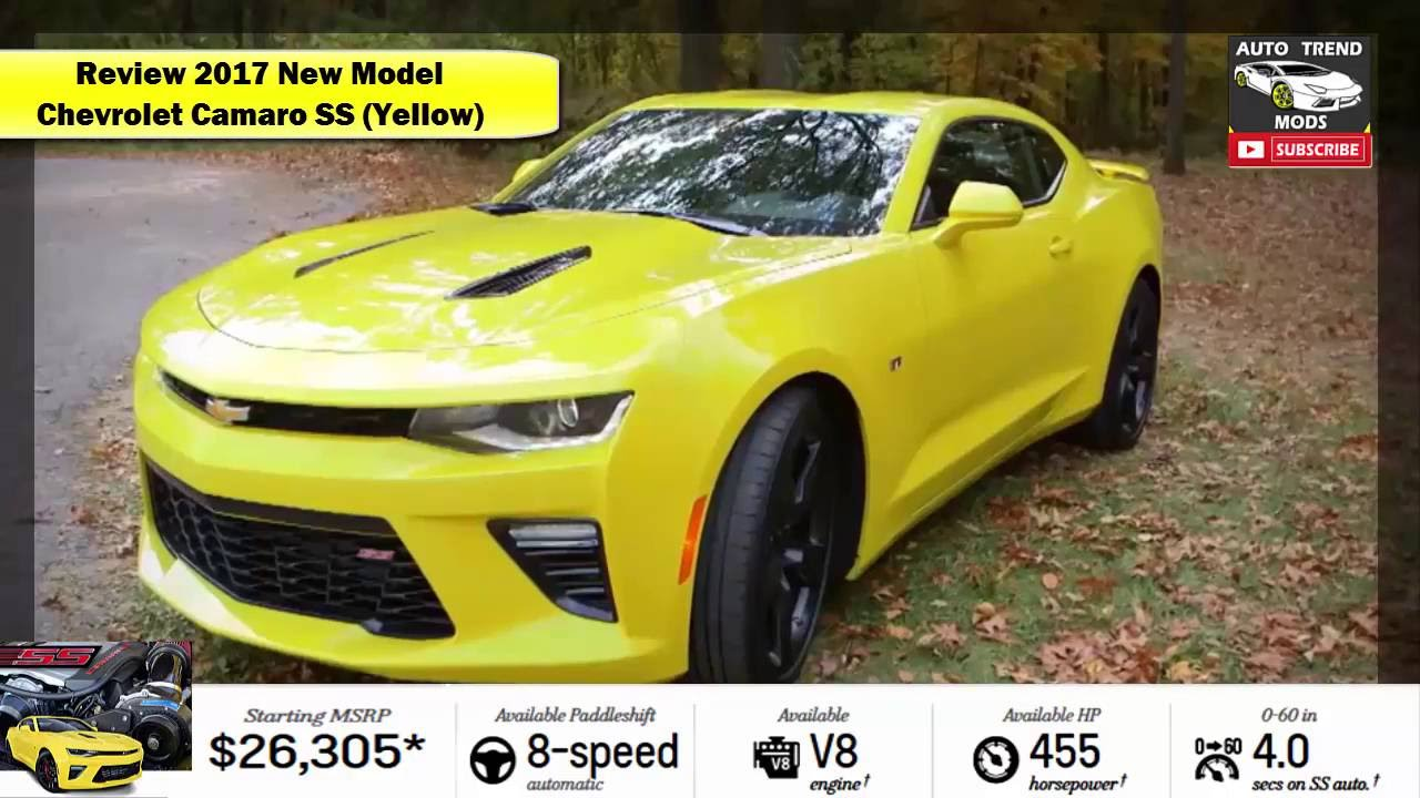 Review 2017 New Model - Chevrolet Camaro SS (Yellow) - YouTube