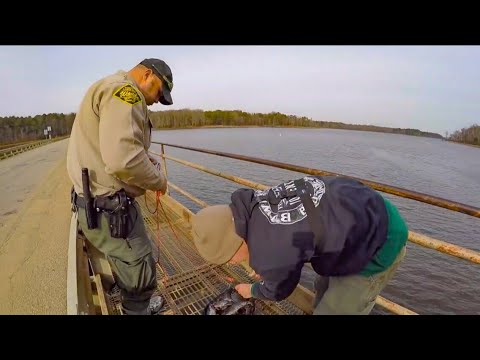 WEIRDEST Day Ever MAGNET FISHING (game Warden Called)