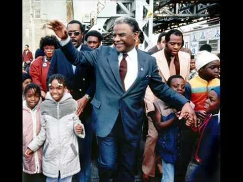 Harold Washington wins primary 1983