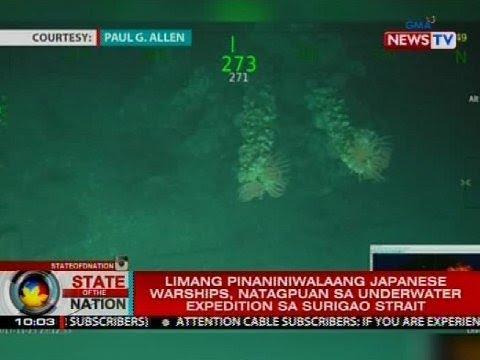 Limang pinaniniwalaang Japanese warships, natagpuan sa underwater expedition sa Surigao Strait