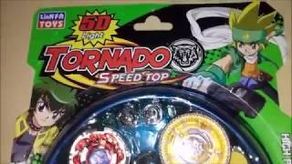 Abrindo e Mostrando Tornado Speed Top (Beyblade Pirata)
