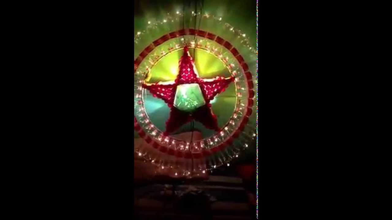 Recycled Parol Making Contest I Ve Got The 1st Prize