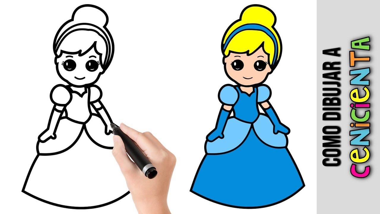 Dibujos De Disney Fáciles De Colorear: Imagenes De Princesas Para Dibujar Faciles Paso A Paso