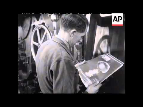 OLD PICTURE POST MAGAZINE BEING PRINTED  - NO SOUND