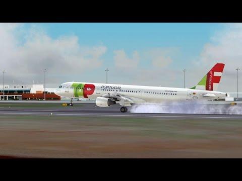 FSX Arrival to Madeira Airport (LPMA): approach, go-around, landing