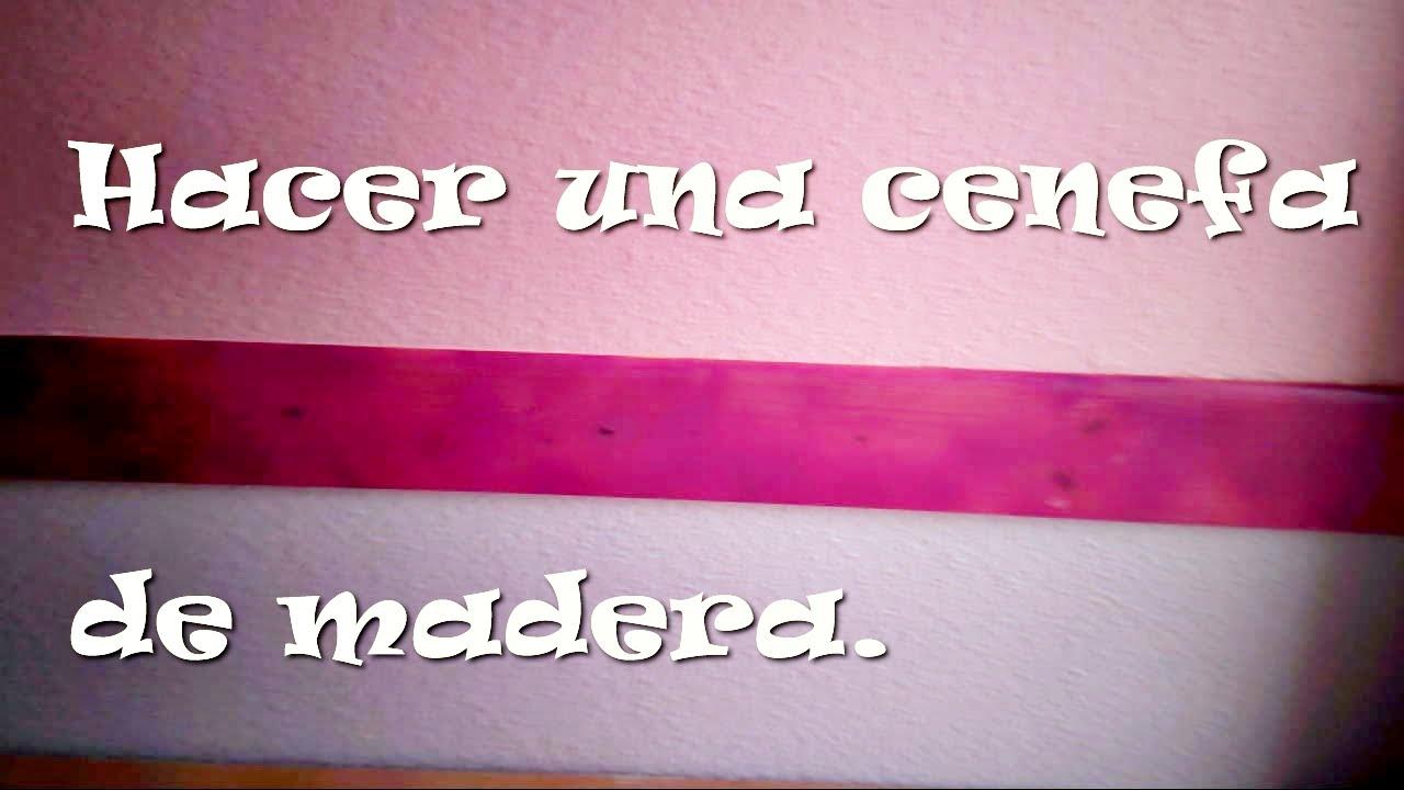 Hacer una cenefa de madera make a border of wood youtube - Cenefas de madera para paredes ...