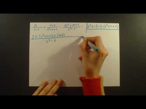 Algebarski izrazi, primer 1 srednje skola