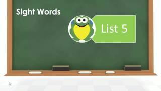 sightwords list05