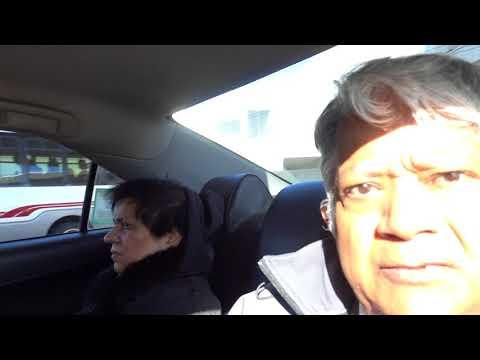 Aruna & Hari Sharma in Boston Taxi from Logan Int. to Copley Square Hotel, MA, USA Oct 30, 2017