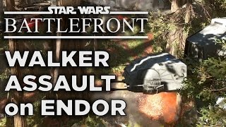 Walker Assault on Endor - Star Wars Battlefront Gameplay