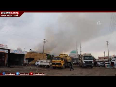 Iğdır'da Sanayi Sitesi'nde oksijen tüpü satan iş yerinde patlama oldu