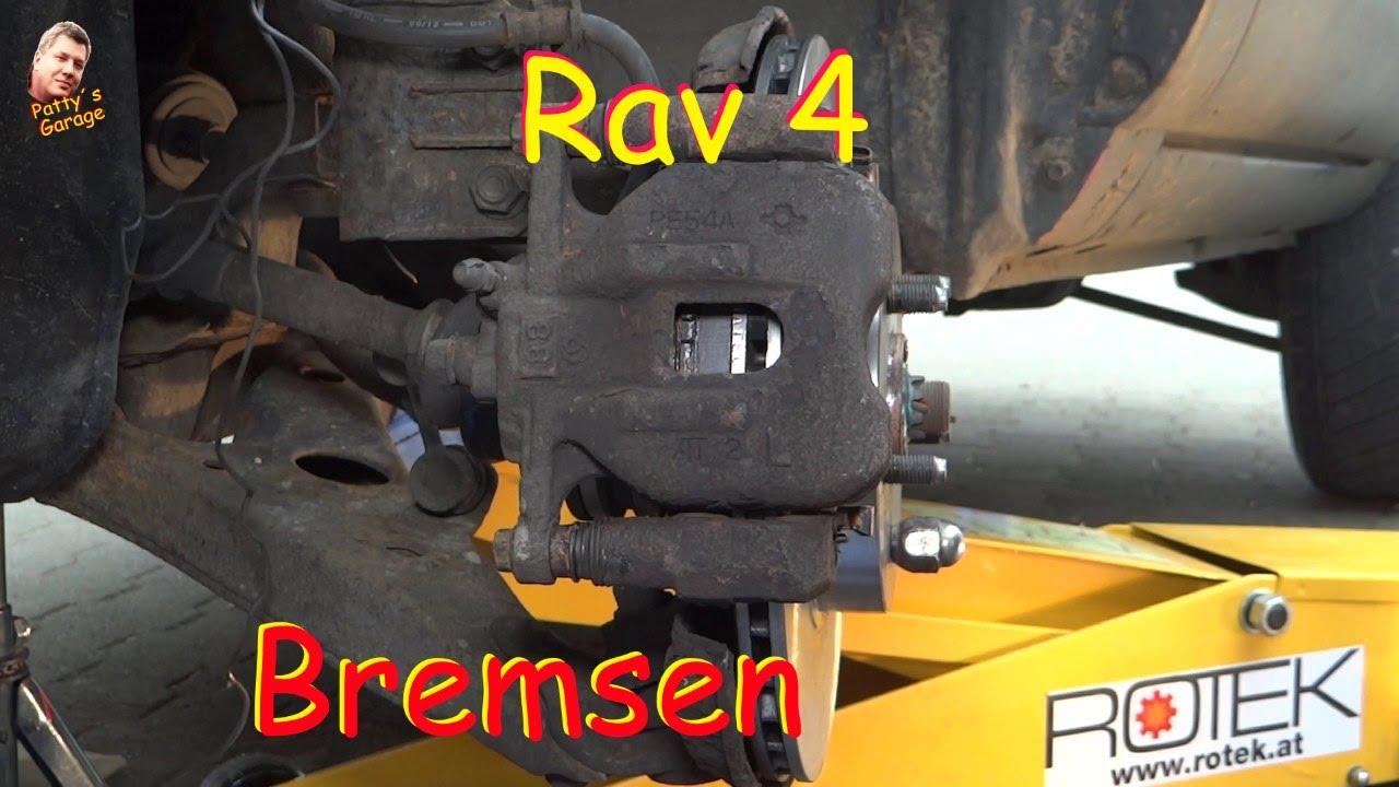 rav 4 bremsbeläge hinten wechseln