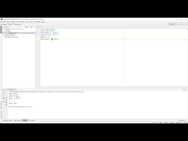 Hello World | #4 - Курс по Python для начинающих