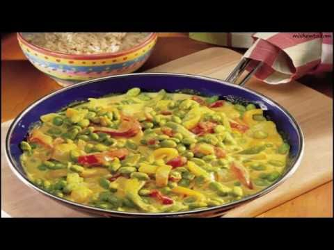 Recipe Curried Peppers and Edamame