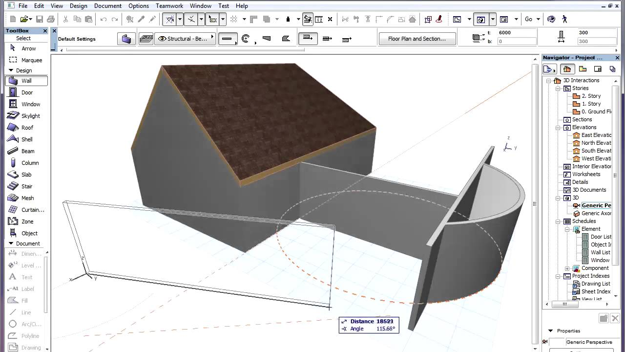 how to draw guidelines in archicad