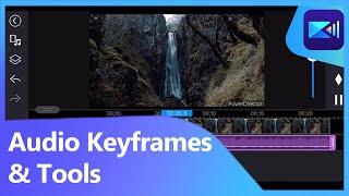 Control Audio Volume with Keyframes & Audio Mixing Tool | PowerDirector Video Editor App