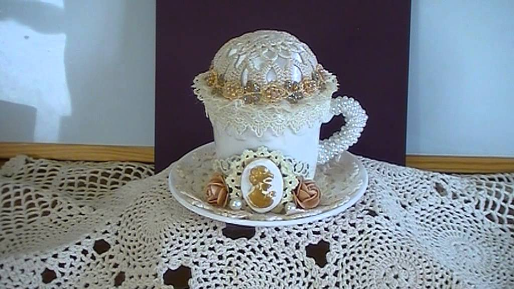 Tea Cup And Saucer Pin Cushion Challenge On The Craft Hole