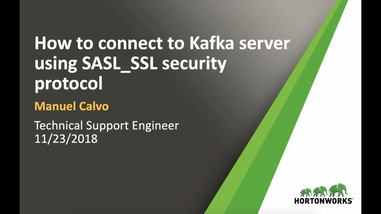 How to connect to Kafka server using SASL_SSL protocol?