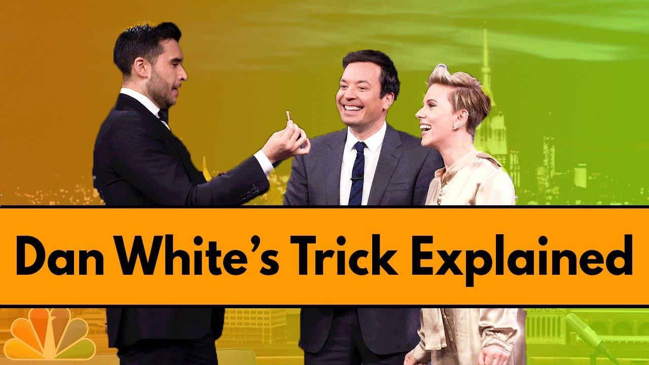 Dan White Magic Trick From Jimmy Fallon Explained - YouTube