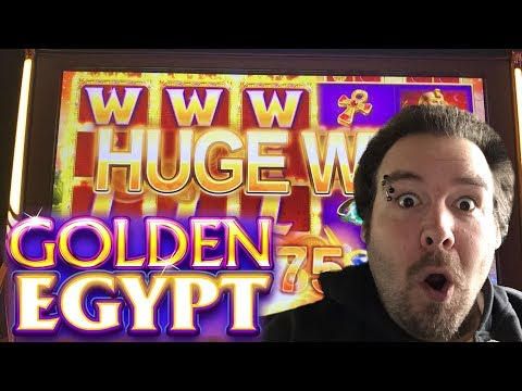 Golden Egypt live play max bet $6.00 with BIG WIN!!! Slot Machine