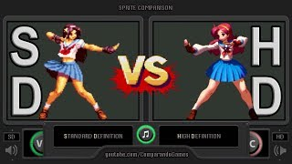 Sprite Comparison of The King of Fighters (SD vs HD) Side by Side Comparison