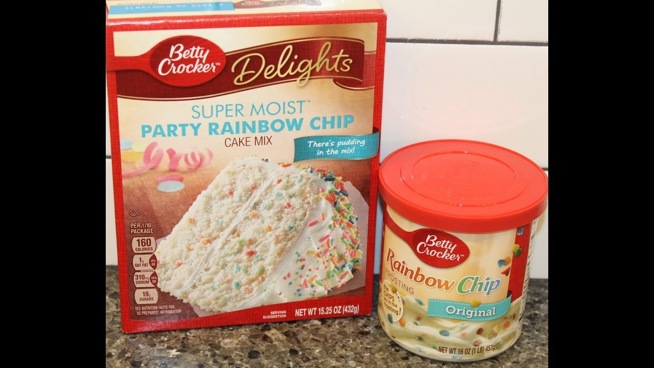 Betty Crocker Party Rainbow Chip Cake Mix Frosting Preparation Review