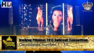 Video Binibining Pilipinas 2013 Candidate 1 - 10 Swimsuit Competition download MP3, 3GP, MP4, WEBM, AVI, FLV Juni 2018