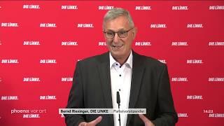 Annalena Baerbock und Bernd Riexinger zur Affäre um AfD-Spende am 12.11.18