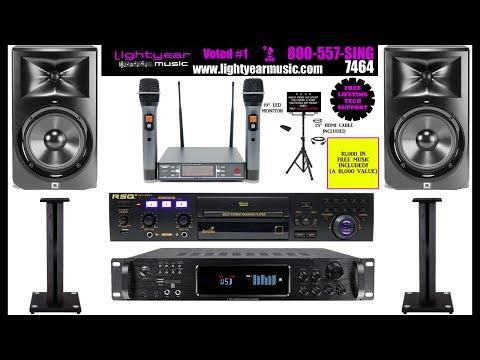 JBL Digital Karaoke System Home Karaoke Recording Studio System With Bluetooth | Lightyearmusic