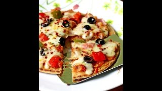 Tawa pizza recipe without yeast | How to make pizza without oven