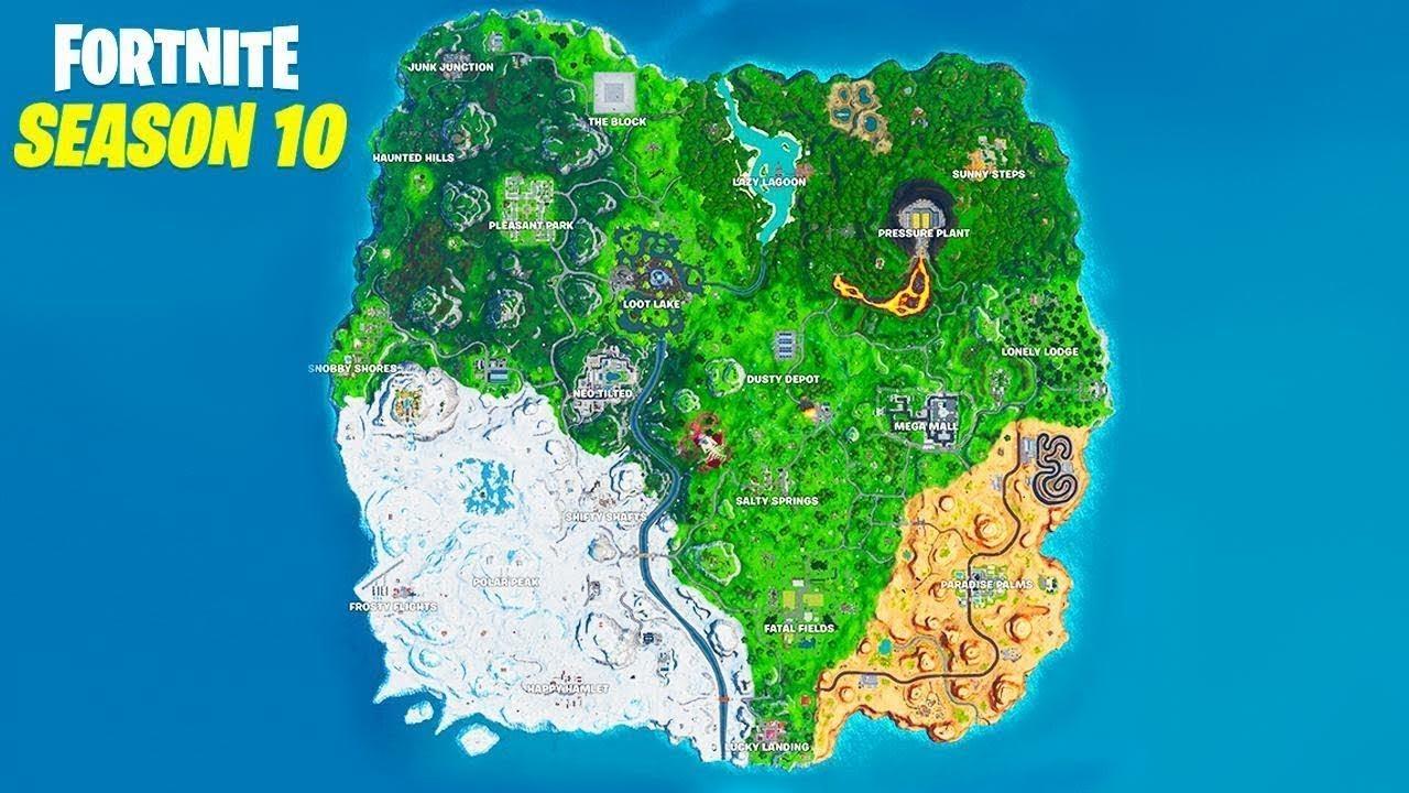 جميع التغيرات على الخريطة سيزون 10 فورت نايت Youtube